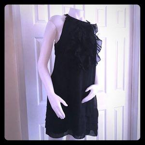 Ice Black Ruffled Dress 12